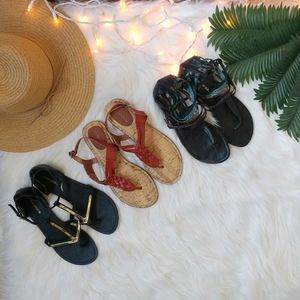 Lot of 3 Cute Target Brand Sandals Size 7